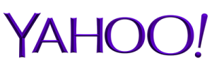 YAHOO! purple logo used to indicate press coverage