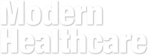Modern Healthcare logo, white. 98point6 news coverage