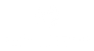 seattle children's logo, white