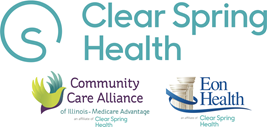 Clear Spring Health, Community Care Alliance and Eon Health logo lockup