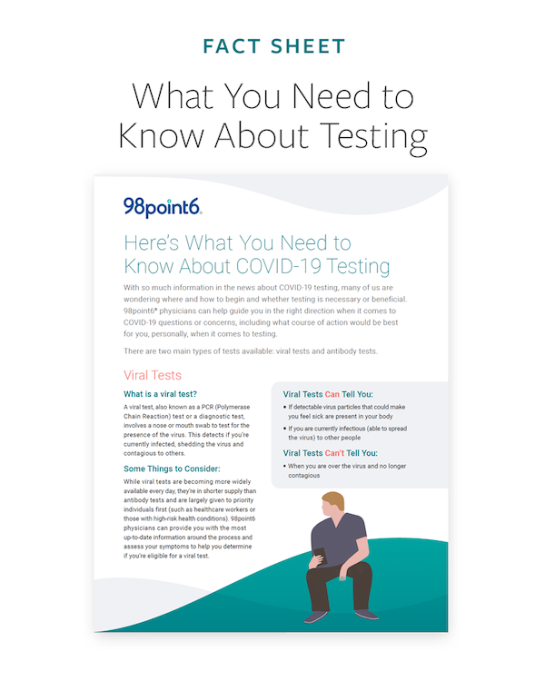 COVID-19 Testing One Pager Preview