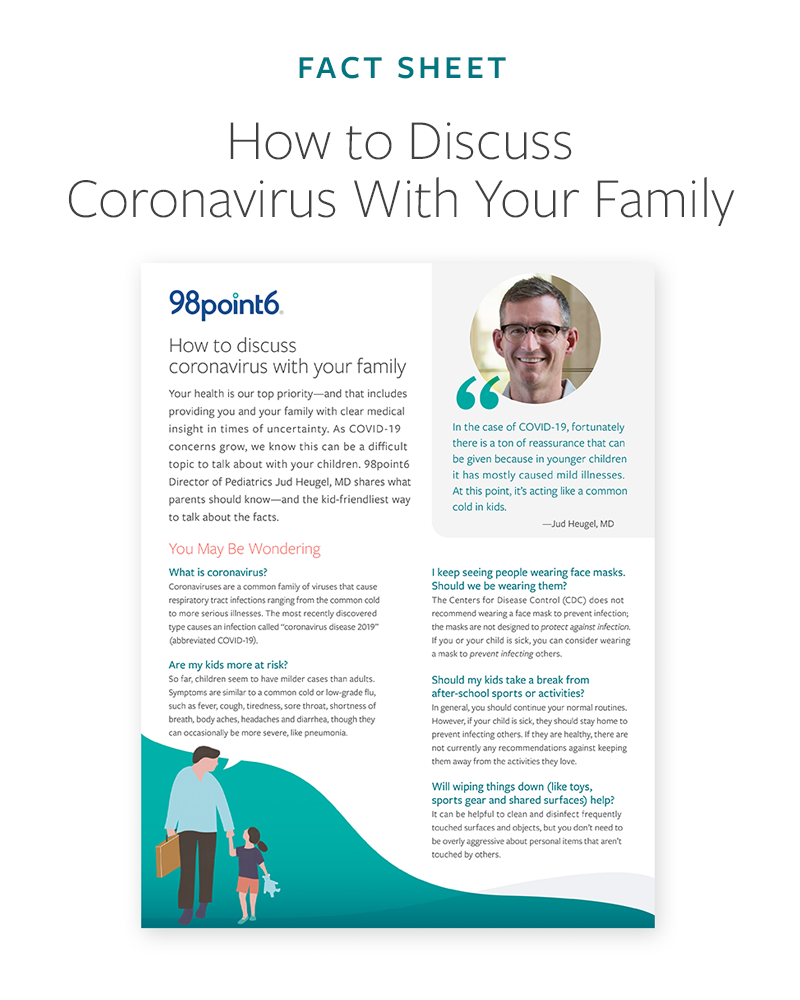 Discussing coronavirus with your family