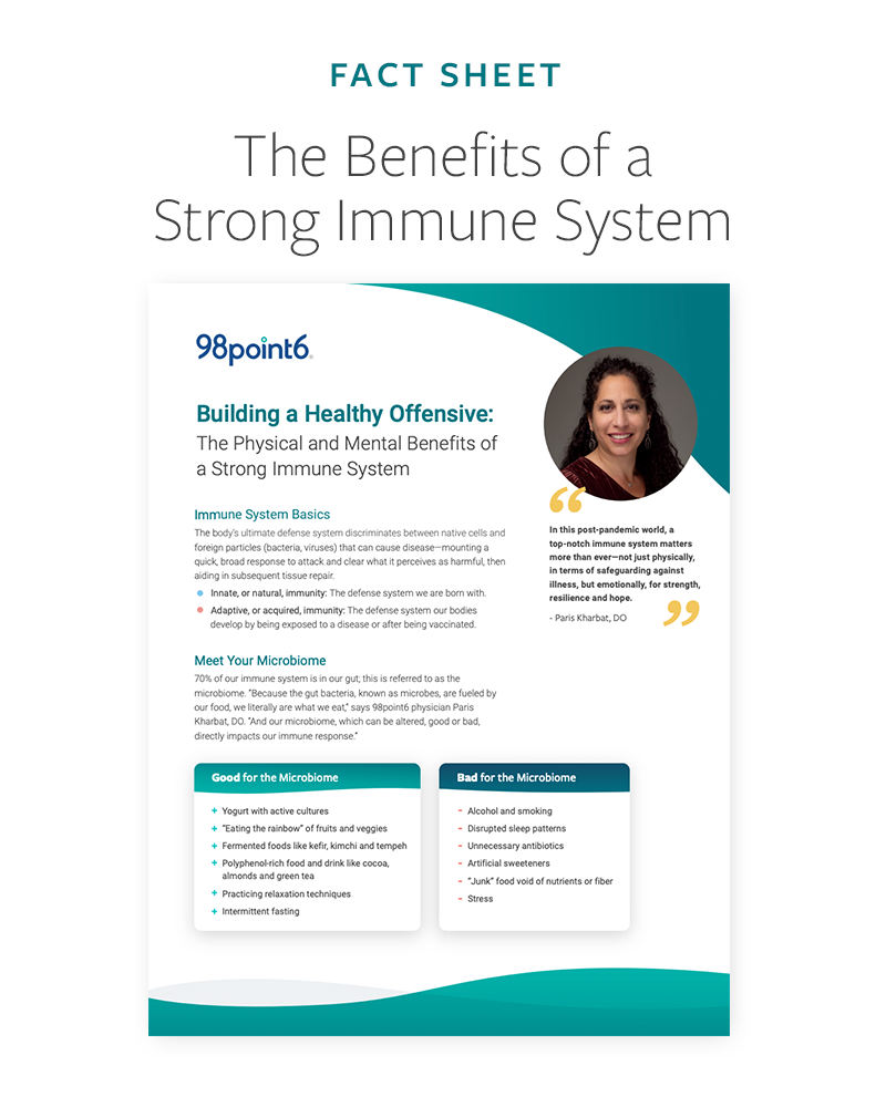 Building a Healthy Offensive: The Physical and Mental Benefits of a Strong Immune System Fact Sheet preview