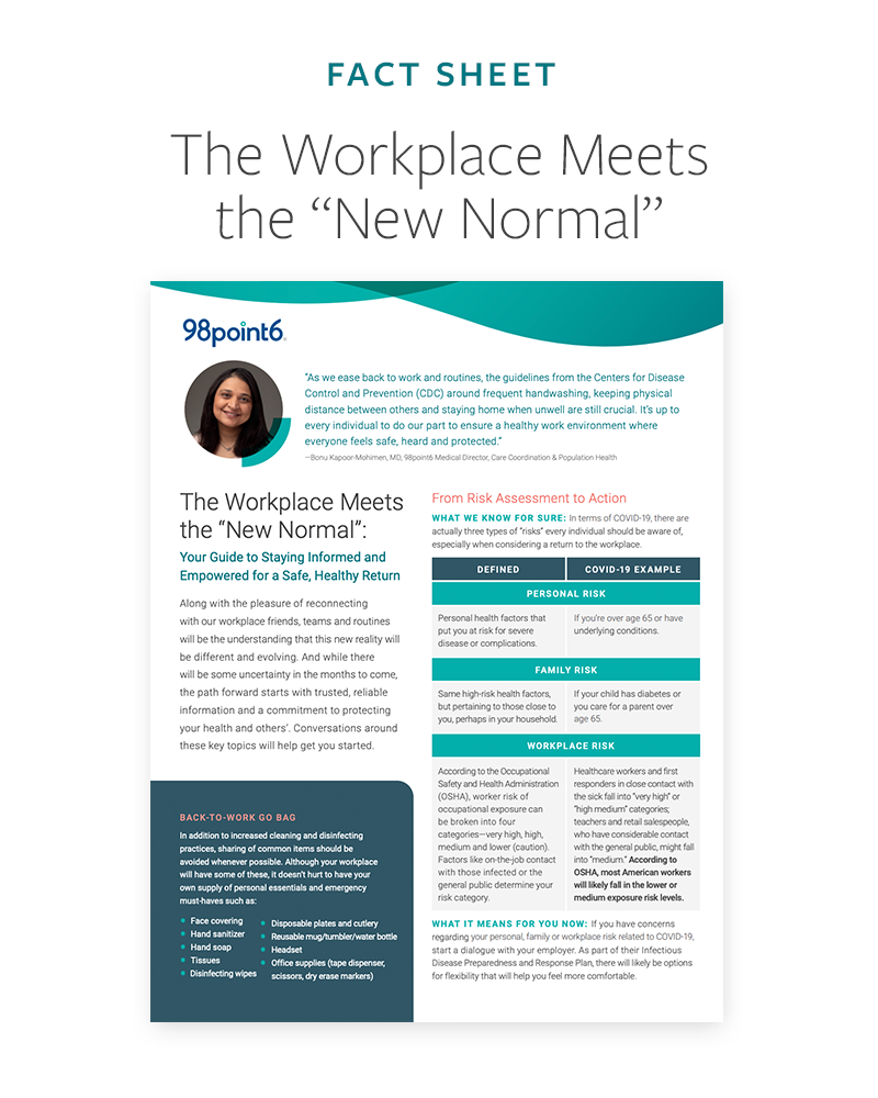 "The Workplace Meets the ""New Normal"" Fact Sheet preview"