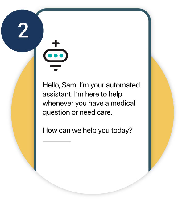 Step 2 - Phone with automated assistant